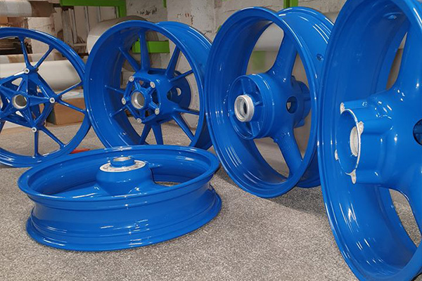 An image of some wheels we powder coated
